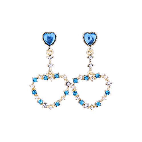 Last true angel hanging heart earrings