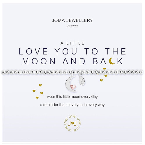 Joma Jewellery 'love you to the moon and back' bracelet