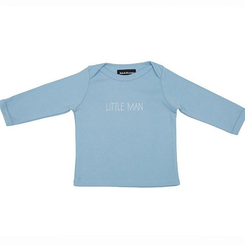 Bob and blossom 'little man' sky blue baby t-shirt, 6-12 months