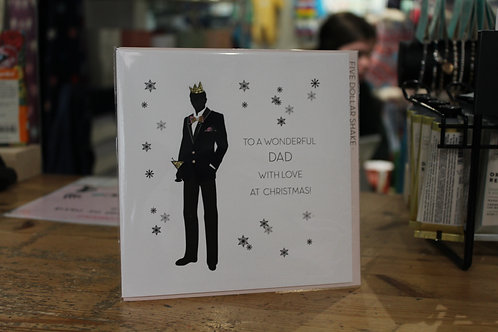 'To a Wonderful Dad With Love at Christmas' Tuxedo Christmas Card