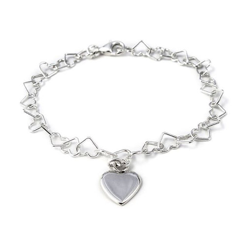 Tales from the earth linked hearts sterling silver bracelet