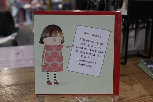 Rosie Made a Thing 'dear santa' Christmas Card