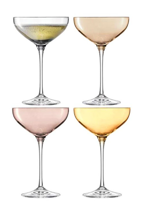 LSA Set of 4 Handpainted Champagne Saucers - 235 ml
