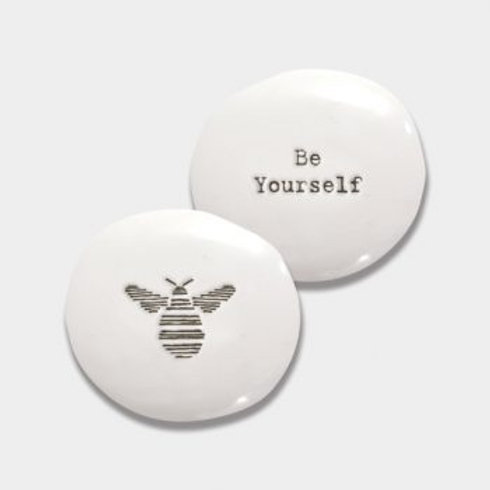 East of india 'be yourself' porcelain pebble