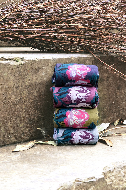 Thought Bamboo Floral Socks (mixed colours)
