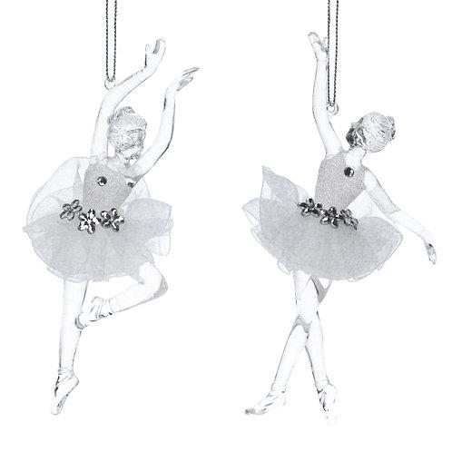 Gisela Graham Glass Ballerina Christmas Decoration