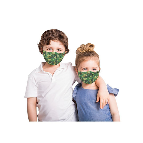 Snoozies Washable Face Covering for Children- Green Camo