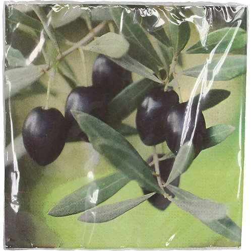 Gisela Graham 20 Olive Branch Design Napkins