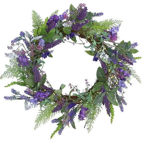 Gisela graham purple lavender wreath