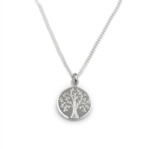 Tales from the earth tree of life sterling silver necklace