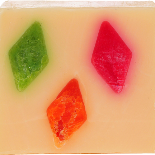 Bomb cosmetics fruit diamond soap slice