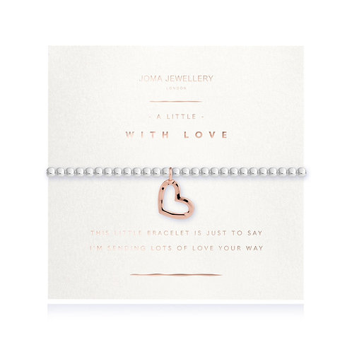 Joma Jewellery 'a little with love' silver plated bracelet