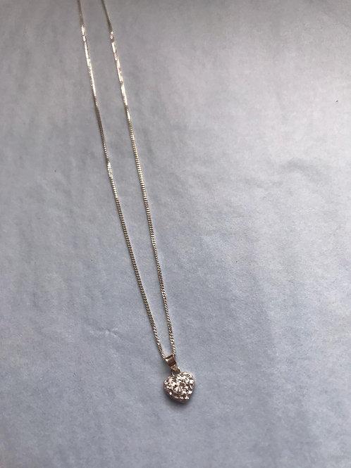 Jambo jewellery sterling silver 'bling' heart pendant