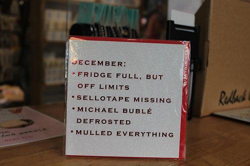 Susan o'Hanlon December List Christmas Card