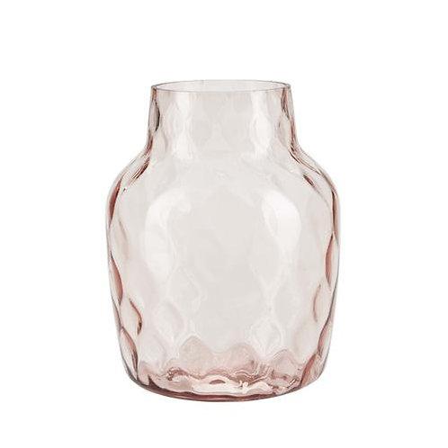 Bahne rose pink large glass vase