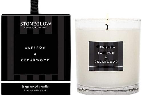 Stoneglow Saffron & Cedarwood Scented Candle