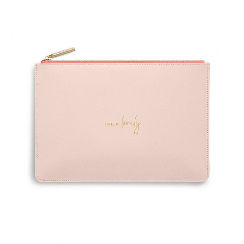 Katie Loxton Colour Pop 'hello lovely' peach and coral Pouch