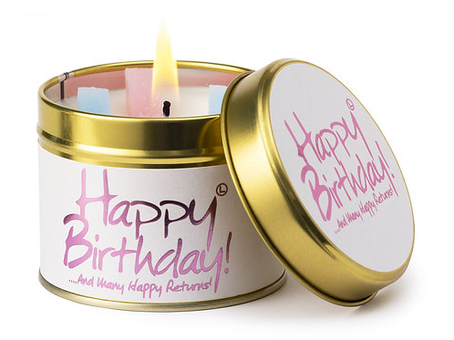 Lily Flame 'Happy Birthday' Scented Candle Tin