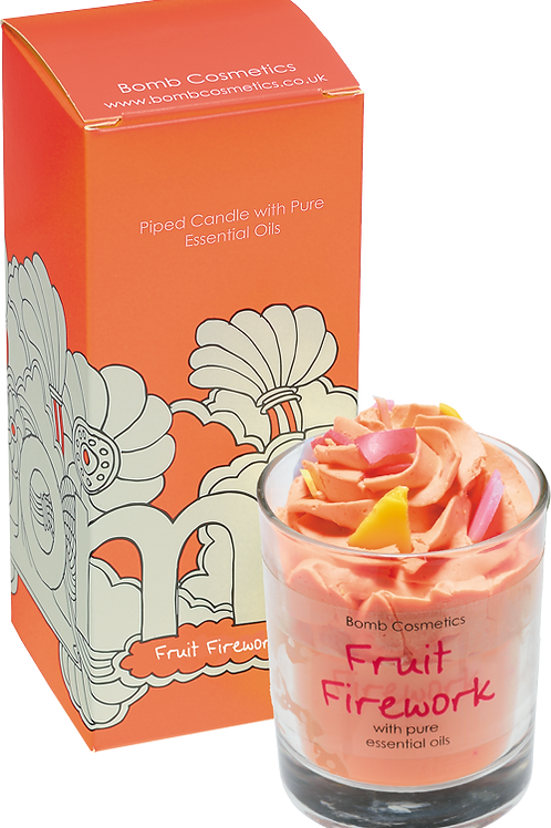 Bomb cosmetics fruit firework piped candle