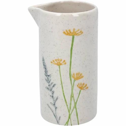 Gisela Graham ceramic daisy/lavendar milk jug