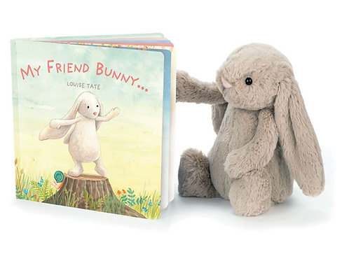 Jellycat My Friend Bunny Picture Book + Bashful Bunny