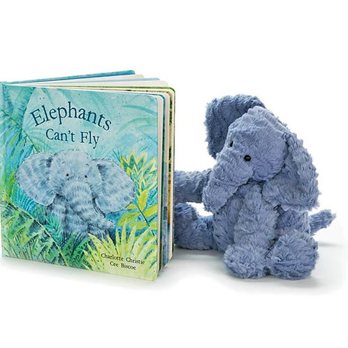 Jellycat Elephants Can't Fly Picture Book + Bashful Elephant (sold separately)