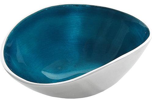 Azeti recycled aluminium small oval bowl