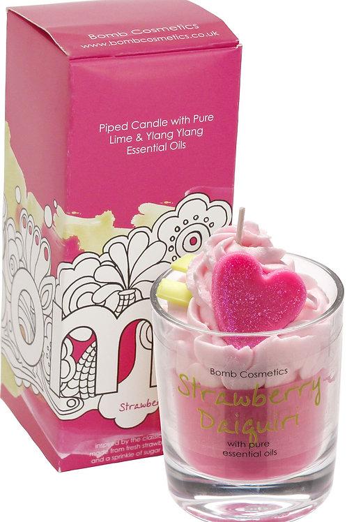 Bomb cosmetics Strawberry Daiquiri piped candle