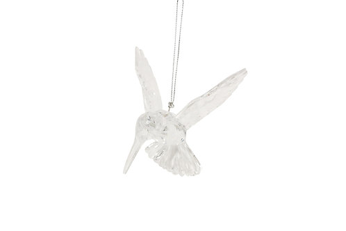 Gisela Graham Clear Humming Bird Christmas Decoration