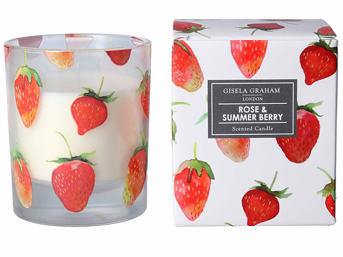 Gisela Graham Rose & Summer Berry Scented Candle (large)