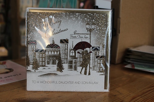 Five Dollar Shake 'To a Wonderful Daughter and Son-in-Law' Christmas Card