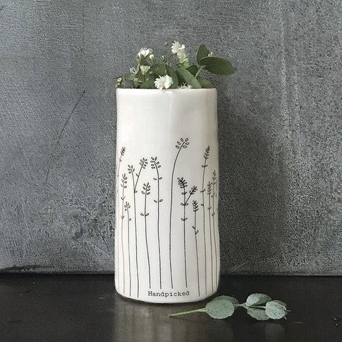 East of india 'handpicked' boxed porcelain medium vase