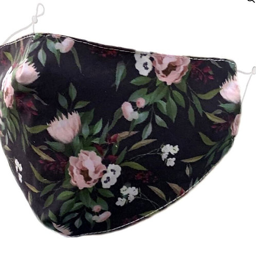 Zelly Fashion Face Covering - Black and Floral