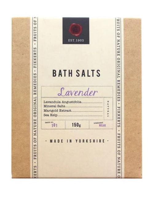 Fikkerts fruit of nature lavender bath salts 150g