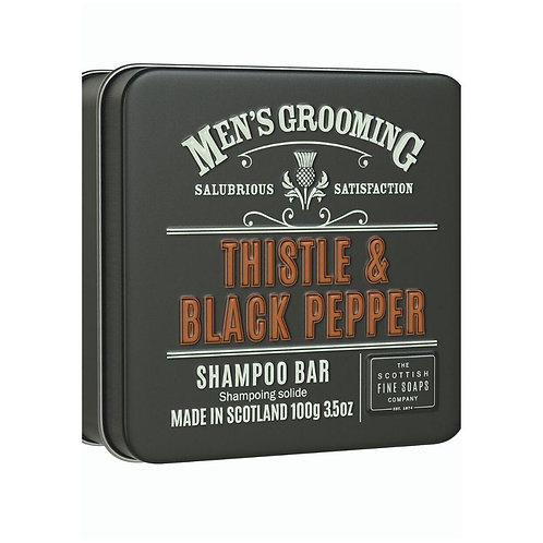 Men's Grooming Thistle & Black Pepper Shampoo bar