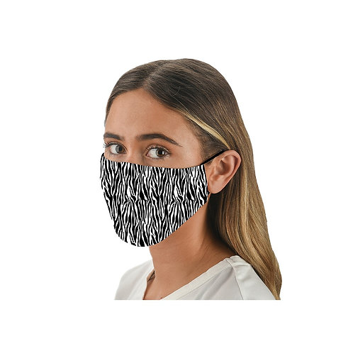 Snoozies Washable Face Covering - Zebra Print