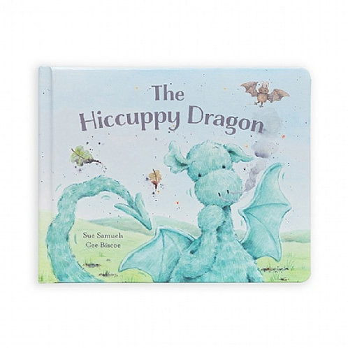 Jellycat 'the hiccuppy dragon' book