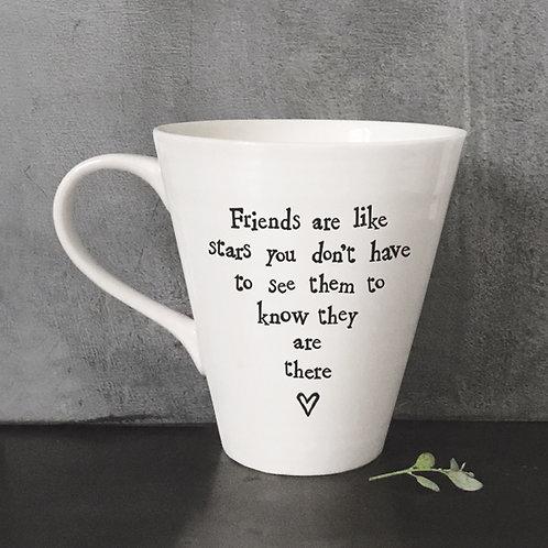 East of india 'friends are like stars' porcelain boxed mug