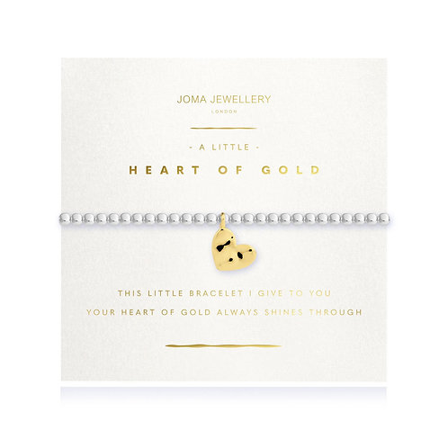 Joma Jewellery 'a little heart of gold' silver plated bracelet