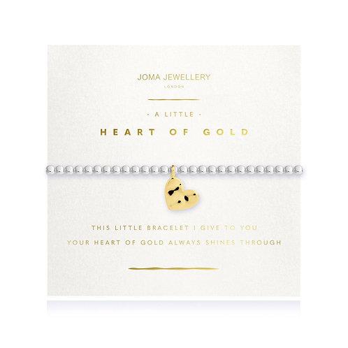 Joma Jewellery 'a little heart of gold' silver plated bracelet