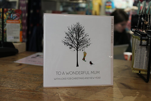 'To a Wonderful Mum' Winter Tree Christmas Card