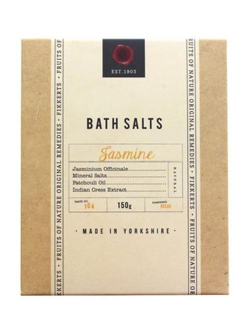 Fikkerts fruit of nature jasmine bath salts 150g
