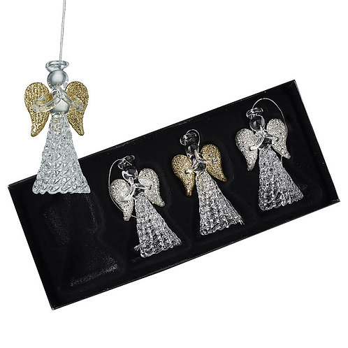 Heaven Sends Silver/Gold Angel Christmas Decoration (sold as single)