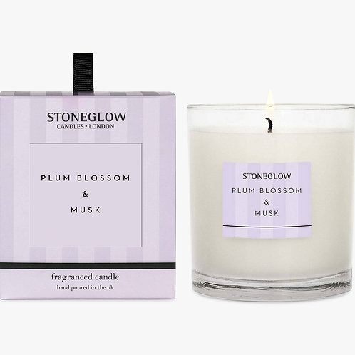 Stoneglow Modern Classic Plum Blossom & Musk Scented Candle