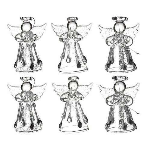 Heaven Sends Clear Droplet Angels Christmas Decoration (sold as single)