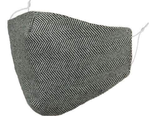 Zelly Fashion Face Covering - Black and White Stripes