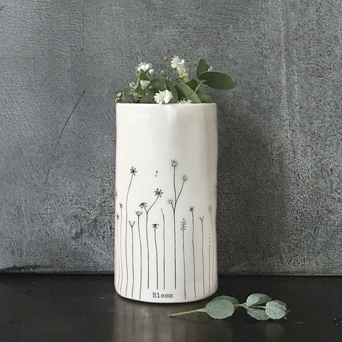 East of india 'bloom' boxed porcelain small vase