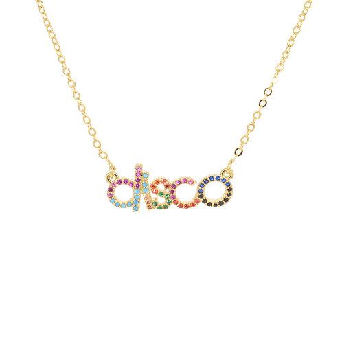Last true angel 'disco' gold necklace