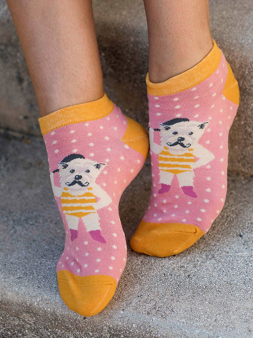 Powder Westie Dog Strongman Bamboo Trainer Socks