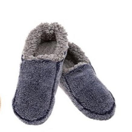 Snoozies Fuzzy Slippers - Navy